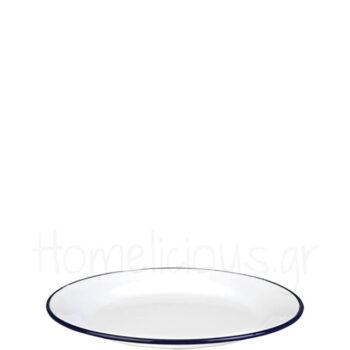 Πιάτο Ρηχό BLANCA [Φ26 cm] Εμαγιέ Λευκό|Ibili