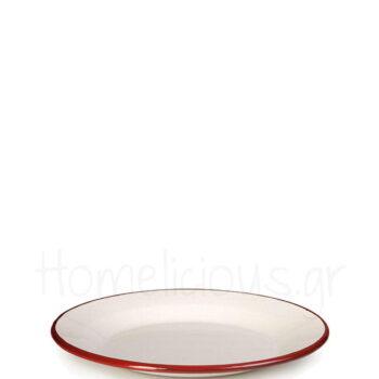 Πιάτο Ρηχό BORDEAUX [Φ26 cm] Εμαγιέ Λευκό|Ibili