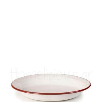 Πιάτο Βαθύ BORDEAUX Εμαγιέ Λευκό Ibili