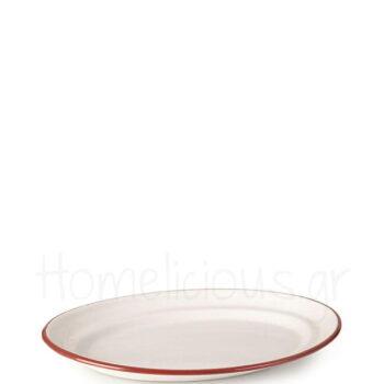 Πιατέλα BORDEAUX Οβάλ [25 cm] Εμαγιέ Λευκό|Ibili