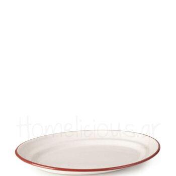 Πιατέλα BORDEAUX Οβάλ [30 cm] Εμαγιέ Λευκό|Ibili
