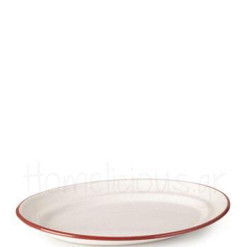 Πιατέλα BORDEAUX Οβάλ [36 cm] Εμαγιέ Λευκό|Ibili