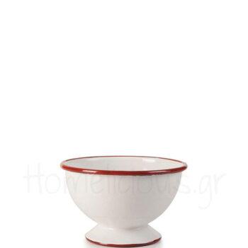 Μπολ Δημητριακών BORDEAUX [Φ12|8 cm] Εμαγιέ Λευκό|Ibili