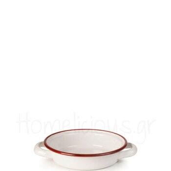 Σαγανάκι BORDEAUX [Φ14 cm] Εμαγιέ Λευκό|Ibili