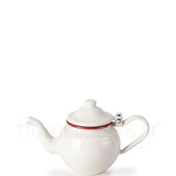 Τσαγιέρα BORDEAUX 500 ml Εμαγιέ Λευκό|Ibili