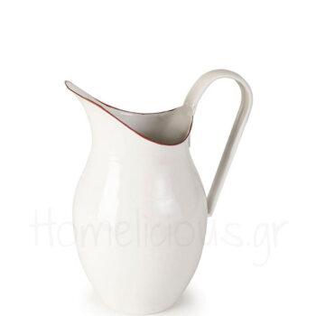 Κανάτα BORDEAUX 1,5 lt Εμαγιέ Λευκό|Ibili