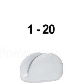 Χαρτοπετσετοθήκη 1254 Με Αρίθμηση Πορσελάνη Λευκό|Apulum