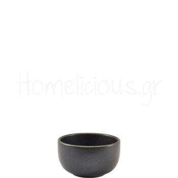 Μπολ Σερβ TERRA Black [Φ12,5|6,5 cm] Πορσελάνη|GenWare
