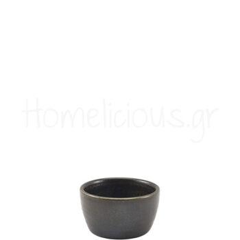 Μπολ Ramekin TERRA Black [Φ7,8|4,3 cm] Πορσελάνη|GenWare