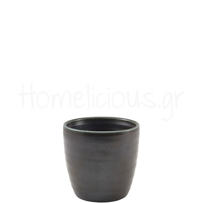 Κούπα TERRA Black (Χωρίς Χέρι) [Φ8,7 8,7 cm] 32 cl Πορσελάνη Gen